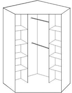 Corner Wardrobe Closet, Wardrobe Design Bedroom, Small Wardrobe, Small Closets, Bedroom Wardrobe, Small Built In Wardrobe Ideas, Pax Wardrobe, Wardrobe Organisation, Wardrobe Storage