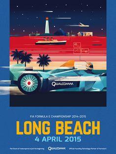 Formula E Championship Posters by Dan Matutina
