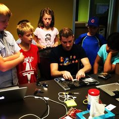 """#tbt Just two weeks ago we had a group of young Lextech kids and friends join us for Little Engineers Day. They had a tour, chats with each department head to hear about how it all works together, saw a laptop's """"guts,"""" got to do some beginner coding, and of course, got plenty of time on our scooters, carts, and in the game room! #lextech #kids #games #STEM #developers #engineers #education #tech #LittleEngineers #fun #mobile #culture"""