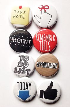 These are one inch flair buttons. Perfect for planners! There are 8 buttons in this set.