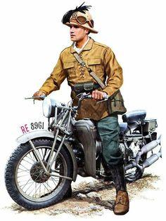 Bersagliere with moto Guzzi