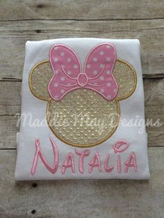 Girls pink and gold Minnie Mouse inspired by MaddieMayDesigns