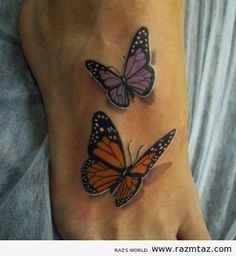 Perfect butterflies for my ribs..gotta add one more though