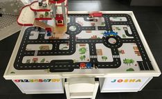 Multifunktionstisch selber bauen: Straßentisch und Eisenbahntisch. www.limmaland.com