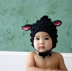 Crochet Baby Black Sheep