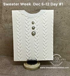 Sweater Week – Join me as we make a Stampin' UP! Cable Knit Sweater Card a day for the next week! #stampinp #remarkablycreated