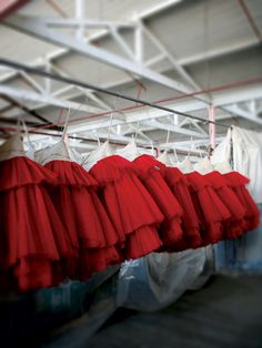 Ruby red tutus at The Australian Ballet. Photo by Jess Bialek