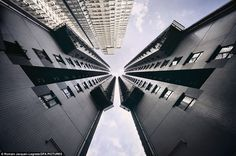 Vanishing point: Hong Kong's lack of living space, combined with a vibrant capitalist economy, has spurred demand for ever denser constructions which have made it the world's most vertical city