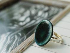 Ringe - Ring Keramik petrol - ein Designerstück von TonArts-Keramik bei DaWanda