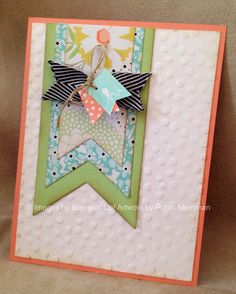 New birthday banner design layout embossing folder 34 ideas Cool Cards, Diy Cards, Card Making Inspiration, Card Sketches, Card Tags, Paper Cards, Creative Cards, Scrapbook Cards, Homemade Cards