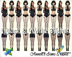 Annett's Sims 4 Welt: Black & White Tights