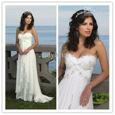 Wholesale A-Line Wedding Dresses - Buy - 2014 Elegant Lace Applique Sweetheart Hot Selling A-line Floor Lenght Long Chiffon Beach Wedding Dresses Bride Gown, $124.99 | DHgate