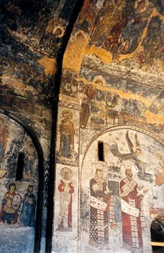 Vardiza cave monastery wall paintings - in Southern Georgia