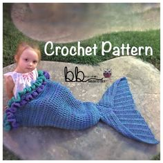 Mermaid Tail Blanket with Ruffles PATTERN ONLY by BeccasBeanies