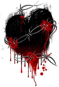 Heart Sketches   barbed wire heart by boomboom34 traditional art ...
