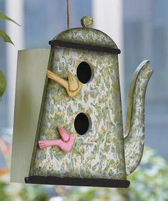 Look at this #zulilyfind! Teapot Birdhouse by Transpac Imports #zulilyfinds