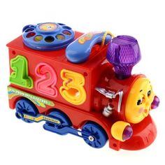 Electronic Toy Train With Music Phone For Kids