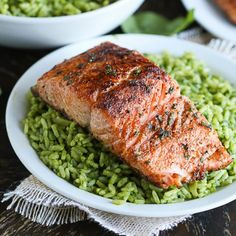 Quick, easy and healthy salmon dinner made with pantry staple ingredients. In under 20 minutes, you are done.
