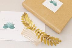 Hey, I found this really awesome Etsy listing at https://www.etsy.com/listing/222351407/grecian-gold-tone-brass-leaf-hair-comb