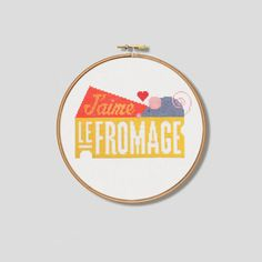 J'aime le Fromage Cross Stitch Pattern Digital by Stitchrovia, £3.99