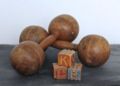Vintage item Materials: wooden, wood Ships from Toronto, Canada to select countries. Hand Weights, Wooden Hand, Toronto Canada, Vintage Home Decor, Countries, Vintage Items, The Selection, Ships, Antiques