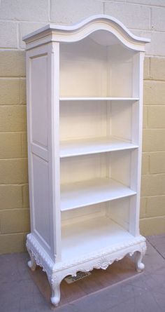 French Style White Tall Open Bookcase - Buy from the French Furniture Specialist: Nicky Cornell, Shabby Chic Furniture Specialists Chic Furniture, White Bookcase, White Bedroom Furniture, Home Furniture, White Furniture, Painted Bedroom Furniture, French Furniture, Furniture Collection, Diy Furniture Bedroom