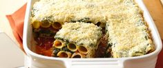 Enjoy your dinner with this delicious pasta and cheese layered casserole made using Green Giant™ spinach and Muir Glen™ organic tomatoes – perfect if you love Italian cuisine.