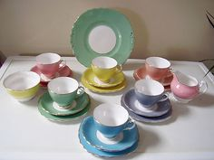 Colclough Harlequin tea set