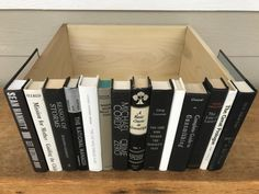 Vintage Silver Gray Metallic Black White Book Box, Secret Door, Router Hider, Book Spine Box by ColorMille on Etsy
