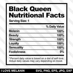 Black Queen Nutritional Facts SVG - Sante et soins du corps Nutrition Education, Nutrition Month, Nutrition Guide, Nutrition Plans, Health And Nutrition, Complete Nutrition, Holistic Nutrition, Cucumber Nutrition, Black Art