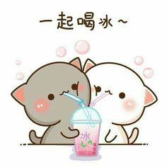 Cute Kawaii Animals, Kawaii Cat, Kawaii Anime, Pet Anime, Cute Anime Cat, Manga Anime, Doodles Kawaii, Cute Doodles, Cute Bear Drawings