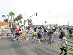 Bikers participating at event.
