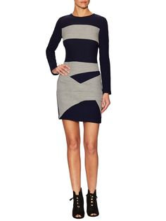 Long Sleeve Asymmetrical Sheath Dress by Thakoon Addition at Gilt