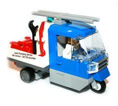 Hall of Bricks 1008 - Klempner mit Ape - Lego City Custom Set inkl. Zubehör