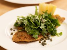 Flounder Milanese by Ina Garten Fish Dishes, Seafood Dishes, Seafood Recipes, Wine Recipes, Cooking Recipes, Healthy Recipes, Cooking Tips, Cleaning Recipes, Pasta Dishes