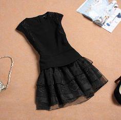 Lace round neck dress AX101926ax