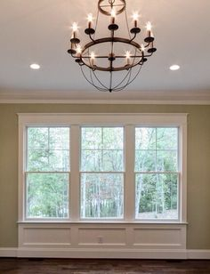 Trim work below windows a must for the new house