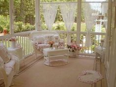 The coziest porch ever!