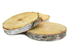 "One Kings Lane - Raw Materials - 18"" Birch Tree Wood Slab Centerpiece"