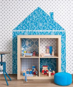 bookcase dollhouse... a great idea! #ikea expedit