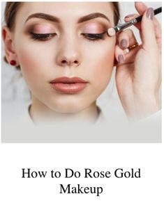 Rose gold makeup looks are in. Here, learn how to pull off rose gold eyeshadow, eyeliner, lipstick, and more so you can look as good as (rose) gold. Rose Gold Makeup Looks, Rose Gold Eyeshadow, Rose Champagne, Beauty Magazine, Chemist, Makeup Brands, Loreal Paris, Eyeliner, Lipstick