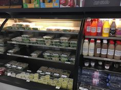 """A little section of @proteinhausuk at Canary Wharf..i died and went to heaven a little bit!The fridges just look like someone has done loads of food prep..looks so pretty  Probs a good thing i don't work around thereor i'd be broke  Love that this sort of food is becoming so much more accessibleyeah its a bit more expensive..but when it's proper fresh & natural ingredients and if you're in a """"i forgot to bring lunch"""" situation i'll take that over some processed supermarket rubbish any day…"""
