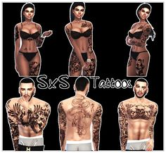 Sims 4 CC's - The Best: Tattoos by Street Sims