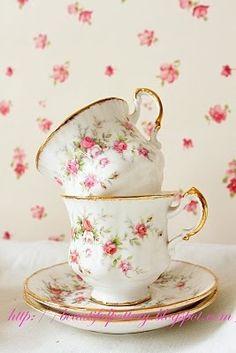 Rosebud teacups...