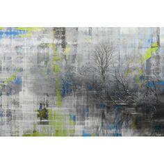 'Misty Lake' by Parvez Taj Painting Print on Wrapped Canvas
