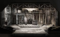 Set Design Model by Sean Fanning for Little Shop of Horrors at the Cygnet Theatre in Old Town.  Directed by Sean Murray.