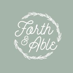 Logo Process Blog: Retro/modern + organic logo for the husband and wife photographer team behind Forth & Able.