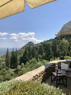 """Day on the way to the upper city of Mystras (less than a km before the entrance) we stopped for a snack at this cozy bistro, """"Veil"""". Great view, nice setting and yummy home made desserts Great View, Veil, Entrance, Greece, Cozy, Patio, Nice, Outdoor Decor, Desserts"""