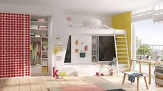Hide away books, toys, games and clothes behind colourful sliding doors with bespoke fitted wardrobe interiors designed to suit your family needs. Fitted Wardrobe Interiors, Wardrobe Interior Design, Home Interior Design, Room Divider Walls, Build A Closet, Storage Design, Closet Doors, Cool Rooms, Bedroom Decor
