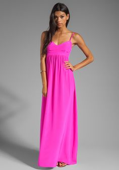 AMANDA UPRICHARD Silk Gown in Hot Pink at Revolve Clothing - Free Shipping!